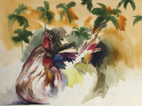 Roger Hechavarria #2262. Untitled, 2000. Watercolor on paper. 17.5 x 23 inches.
