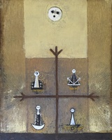 Alazo - Alejandro Lazo #2284 . Untitled, 2000. Oil on canvas. 39.25 x 31.5 inches. SOLD!