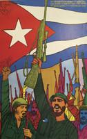 """René Mederos (Felix René Mederos Pazos) """"1959 - 1969 Decimo aniversario del triumfo de la rebelion Cubana,"""" 1969. Offset print. 31 x 20 inches."""