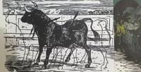 """Juan Carlos Rivero #608 (SL) Series: """"Narraciones del eterno,"""" 2000. Mixed media print. edition 7 of 8. 17.75 x 10.5 inches."""
