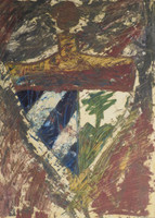 Juan Karlos Echeverria Franco  #1241B (SL) Untitled, 1996. Mixed media on paper. 27.5 x 19.75 inches.