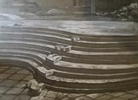 """Ruben Fuentes Gonzalez #3556 (SL) """"Sombras que se nutren,"""" 2004. Work on paper 22 x 30 inches"""