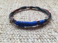 Osvaldo Castilla #416B. leather strap and sterling silver bracelet