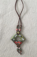 Ceramic Pendant Necklace #18
