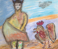 M. Ferrer #2113. Untitled, 2003. Crayon on paper.