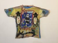 """71b Wayacón (Julián Espinosa), """"Wayacon,"""" N.D. Mixed media/acrylic on tee shirt. 28"""" x 36"""" #5314"""