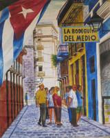 """Unkown artist #8054. """"La bodeguita del medio,""""  N.D. Oil on canvas. 23  x 18 Inches."""
