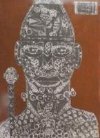Mederox (José Mederos Sigler) #4980. NFS. Untitled, 2009. Tempera on paper, 16 x 11.75Inches.