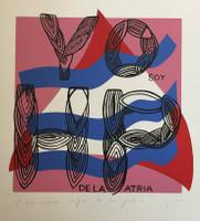 """Guerra #291. """"Todos somos hijos de la patria,"""" N.D. Serigraph print edition 38 of 45.  29 x 20 inches."""