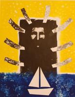 """Càceres (Rafael Angel Càceres Valladares) #2266. """"Esperandote,"""" 1999. Monotype, 1/1.   19.5 x 15 Inches."""