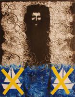 "Càceres (Rafael Angel Càceres Valladares) #2267. ""El pase,"" 1999. Monotype, 1/1.    19.5 x 15 Inches."