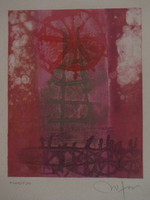 Nestor Vega #2404. Untitled, N.D. Monotype print. 10 x 7.5 inches.