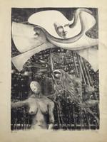 """Posada (José Luis Posada)  #480 (SL) NFS>> """"Sueno,"""" N.D. Lithigraph print. 25 x 20 inches."""