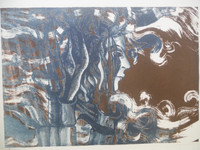 Zaida Darol #602. Untitled, 1975. lithograph print edition 5 of 10.   16 x 21.5 inches
