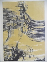 "Zaida Darol #603. ""Cabeza,"" N.D. Lithigraph print edition 9 of 10.    23 x 16.5 inches."