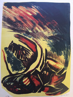 Jose Omar Torres #630. Untitled, N.D. Lithograph print edition 9 of 10. 21 x 18 inches.