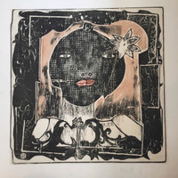 "Nelson Dominguez #873. Untitled, ND. Linoleum print. 19.75""x19.5"""
