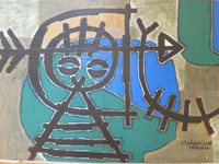 Mederox (José Mederos Sigler) # 8073. Untitled, 2014. Mixed media collage/ ink and acrylic on cardboard. 14.5 x 23 Inches.