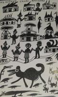 """Isabel de las Mercedes #2638 (SL) """"La barrigona,"""" 1996. Ink on paper. 9.5 x 6.5 inches."""