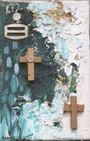 Remberto Ramirez #5271 -23. Untitled, 2010. Mixed media on canvas. 8 x 5.5 inches.