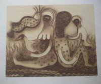 "Mendive (Manuel Mendive) #5961B. untitled, 2009. print, 59/100, 19.5"" x 23.5"""