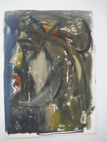 Lester Campa #5960. Untitled, N.D. Double sided watercolor on paper. 7 x 5 inches.
