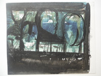 Lester Campa #5956. Untitled, N.D. Watercolor on cardboard. 8.75 x 11 inches.