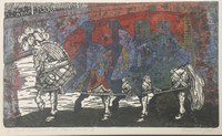"Juan Carlos Rivero #2369. ""Narraciones del eterno Carnaval VI,"" 2000. Etching edition 2/8"