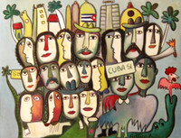 "Fuster (José Rodríguez Fuster) #4911. ""Cuba si,""2007. Oil on canvas. 21 x 27 inches. SOLD!"