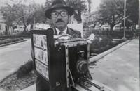 """Mayito (Mario García Joya) #177. NFS> """"El fotografo de Quito, Ecuador,"""" 1982.  11.75 x 15.75 inches. Signed and dated 1982"""