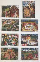 Set of 8 gift cards featuring art by El Estudiante