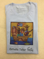 Cotton Fuster tee Shirt size large #423B