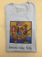 Cotton Fuster tee Shirt size large #423B
