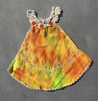 Crochet tie-dye childs dress #058D