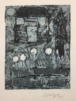 Jorgito #523E. Untitled, N.D. Collagraph print from down syndrome art project in Pinar del Rio, Cuba.  11x 8.5 inches.