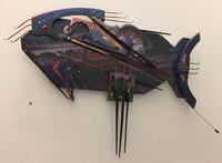 Osvaldo Castilla, Untitled, 2018. Fish wall Sculpture, mixed media