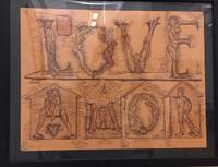 """Yamilys Brito, Love, ND. Pen on paper. 12"""" x 16"""" #5295f"""