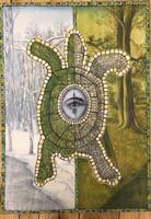 """JBJ (Jacqueline Brito) """"Cuatro elementos naturales, 2001. Oil on canvas. 42"""" x 30"""""""