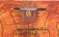 """David Valasquez """"Cocinando mentiras a fuego lento,"""" 2012. Acrylic on canvas. 24"""" x 40"""" #5561"""