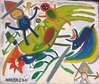 "Wayacón (Julián Espinosa) Untitled, N.D. Oil on canvas. 27.5"" x 40.5"" #6315"