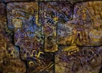 Leandro Soto:  Cumpleaños en Machuppichu. Mixed Media on Canvas 66 x 90 inches. 1997.