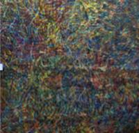 Leandro Soto: Samsara: Ciudad de México. Acrylic on Canvas. 57 x 57 inches. 1988.