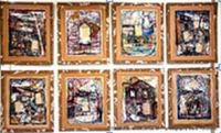 Leandro Soto: Carpentier in Barbados (series 6 pieces) Mixed Media on Paper. 31 x 24 inches 2012.  (Each $2500.00)