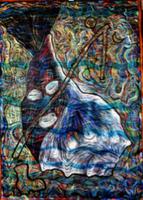 Leandro Soto: Lucero de día y de noche. Acrylic on Canvas.