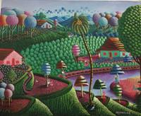 """Magnolia Betancourt, """"Las Pezcadoras,"""" 2018. Acrylic on canvas. 15.75"""" x 19.75"""""""