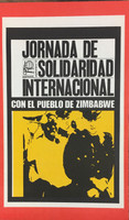 """78 OSPAAAL, """"Jornada de solidaridad con el pueblo de Zimbabwe."""" Offset. 21"""" x 13"""""""
