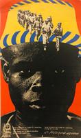 """85 OSPAAAL, """"Jornada de solidaridad con el pueblo de Guinea Bissau."""" Offset. 21""""x 13"""""""