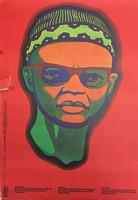 """87 OSPAAAL, """"Dia de solidaridad mundial con la lucha del pueblo de Guinea-Bisao y las Islas de Cabo Verde."""" Offset 21"""" x 13"""" SOLD"""
