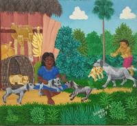 """017 Daniel Alvarez Arias, """"La niña,"""" 2017. Oil on canvas. 9.5""""x 10.5"""""""