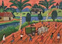 "026 Osvaldo Castillo, ""La Parratas,"" 2006. Oil on canvas. 9.25""x 13"" #3913"